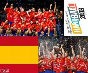 Puzle Medalha de ouro da Espanha na Copa do mundo de andebol 2013