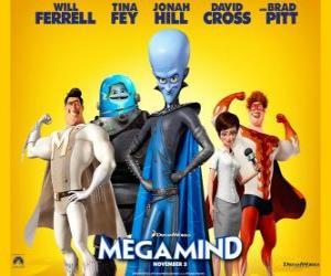 Puzle Megamind ou Megamente personagens principais