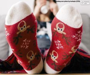 Puzle Meias de Natal agradáveis