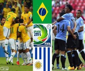 Puzle Meias-finais do Brasil - Uruguai, Copa das Confederações de 2013