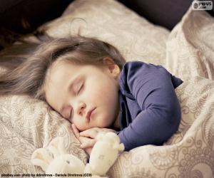 Puzle Menina dormindo
