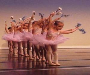 Puzle Meninas fazendo balé ou ballet