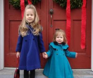 Puzle Meninas muito elegante para os feriados