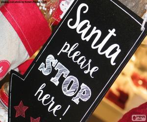Puzle Mensagem para Papai Noel