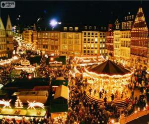 Puzle Mercado de Natal de Frankfurt
