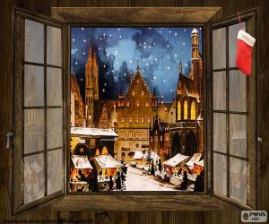Puzle Mercado de Natal, janela