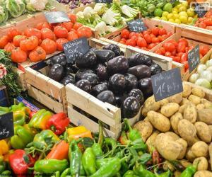 Puzle Mercado de vegetais