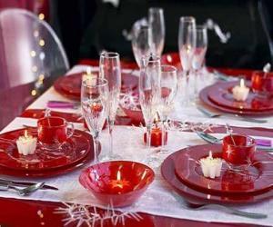 Puzle Mesa preparado para Dia de Natal