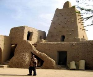 Puzle Mesquita Djingareyber na cidade de Tombuctu, no Mali