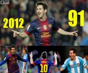 Puzle Messi fecha o 2012 com 91 gols