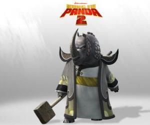 Puzle Mestre Rino Trovão é o mais venerado de todos os mestres de Kung Fu do Conselho