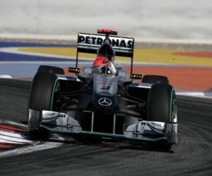 Puzle Michael Schumacher - Mercedes - Bahrain 2010
