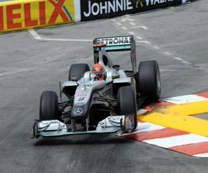 Puzle Michael Schumacher - Mercedes - Monte-Carlo 2010