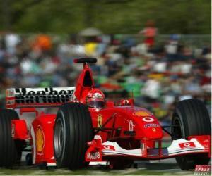 Puzle Michel Schumacher (Kaiser) pilota seu F1