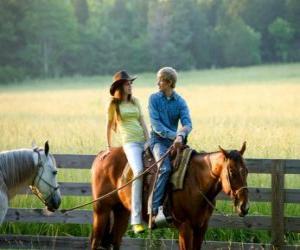 Puzle Miley Stewart a cavalo