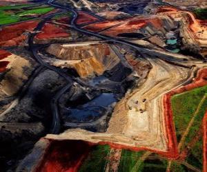 Puzle Mina de carvão na África do Sul