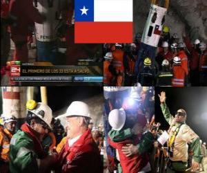 Puzle Mineiros chilenos resgate final feliz