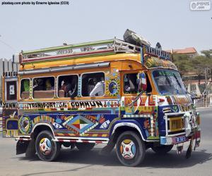 Puzle Minibus, Dakar, Senegal