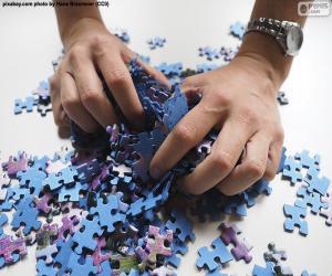 Puzle Misture as peças do puzzle