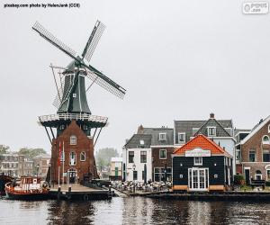 Puzle Moinho Adriaan, Haarlem, Países Baixos
