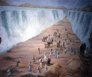 Puzle Moisés divide as águas do Mar Vermelho no êxodo do povo judeu