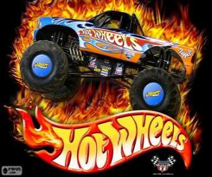 Puzle Monster Truck de Hot Wheels em ação