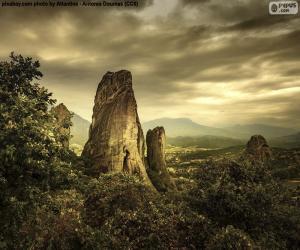 Puzle Montanhas de Metéora, Grécia