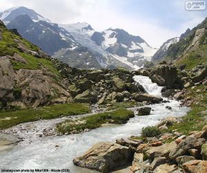 Puzle Montanhas de Susten, Suíça