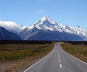 Puzle Monte Cook, na Nova Zelândia