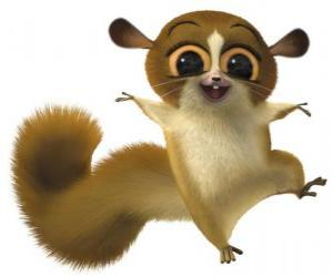Puzle Mort um dos habitantes de Madagascar, estava inquieta, irritante, e simpático