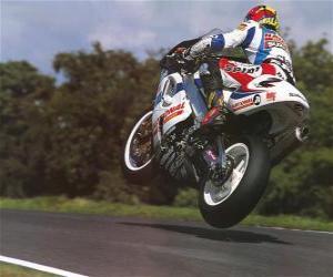 Puzle Moto desportiva da competição