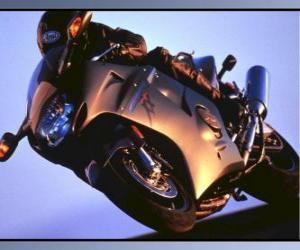 Puzle Moto esporte com seu piloto
