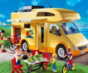 Puzle Motocasa o autocaravana Playmobil