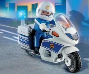 Puzle Motocicleta de polícia Playmobil