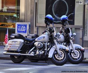 Puzle Motocicletas da Polícia de Nova York