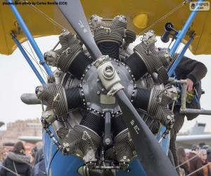 Puzle Motor biplano