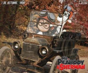 Puzle Mr. Peabody e Sherman em sua viagem para o ano 1908