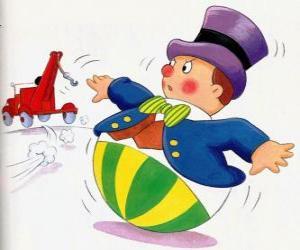 Puzle Mr. Wobbly, um pequeno homem engraçado com uma base redonda que não pode mentir
