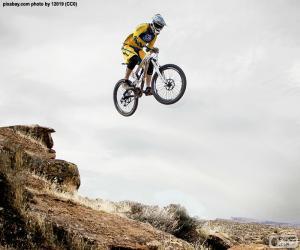 Puzle MTB-motociclista pulando