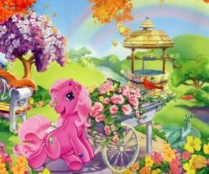Puzle My little Pony rodeado por flores
