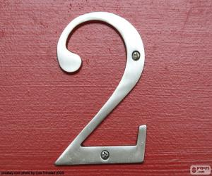 Puzle Número 2, de cor prata