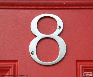 Puzle Número 8, cor de prata