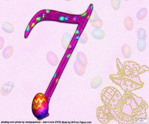 Puzle Número sete da Páscoa