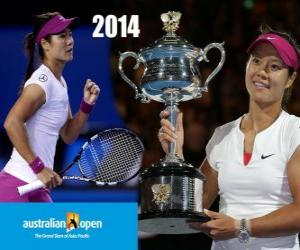Puzle Na Li campeão aberto de Austrália de 2014