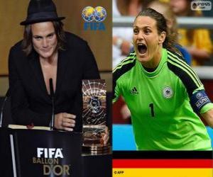 Puzle Nadine Angerer jogador do mundo da Copa do Ano 2013