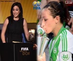 Puzle Nadine Kessler, melhor jogador do mundo do ano de 2014 a FIFA
