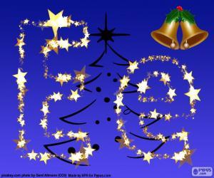 Puzle Natal com a letra E