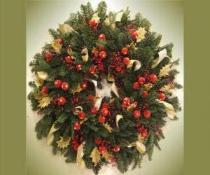 Puzle Natal coroa com frutas