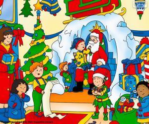 Puzle Natal de Caillou
