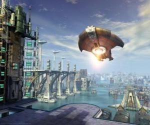 Puzle Nave extraterrestre, disco voador, OVNI ou UFO voar
